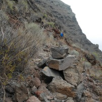 Route volgen # hoopje stenen of de oranje stip?