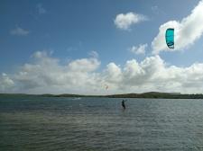 kitesurfen in st Jorisbaai